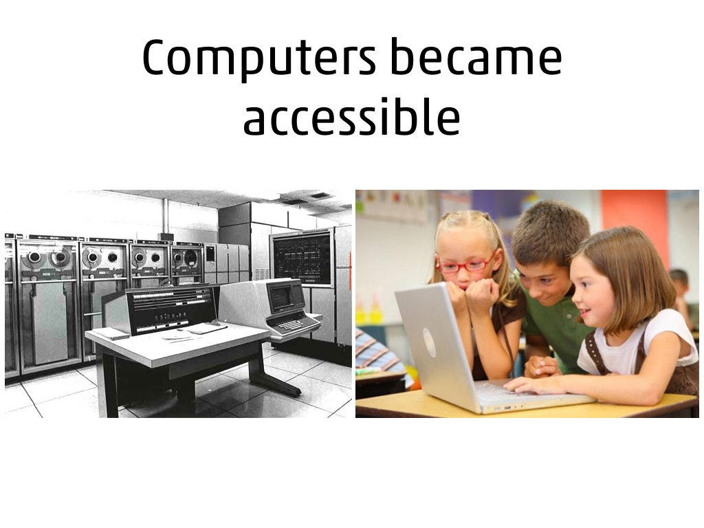 Computers became accessible